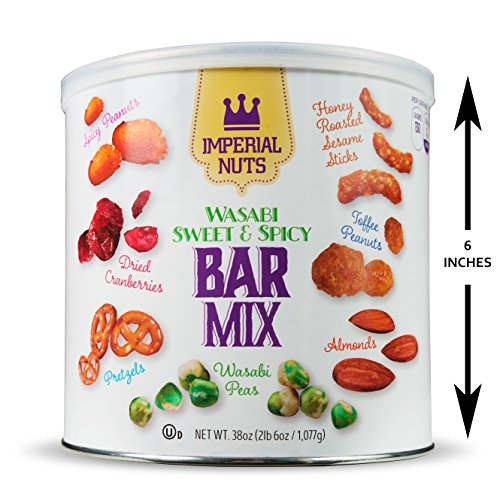 (Imperial Mixed Nuts Bar Mix - Tasty Nut Snack for Daily Use or Any Occasion (Wasabi Sweet & Spicy))