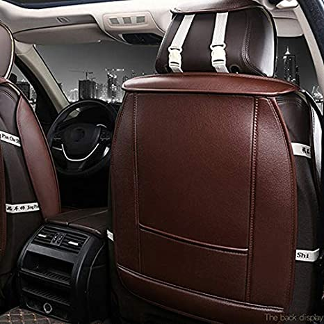 Ambility Car Front Seat Covers PU Leather Universal Seat Cushion Soft Protector Car Seat Covers Car Seat Protection Seat Cover Sets