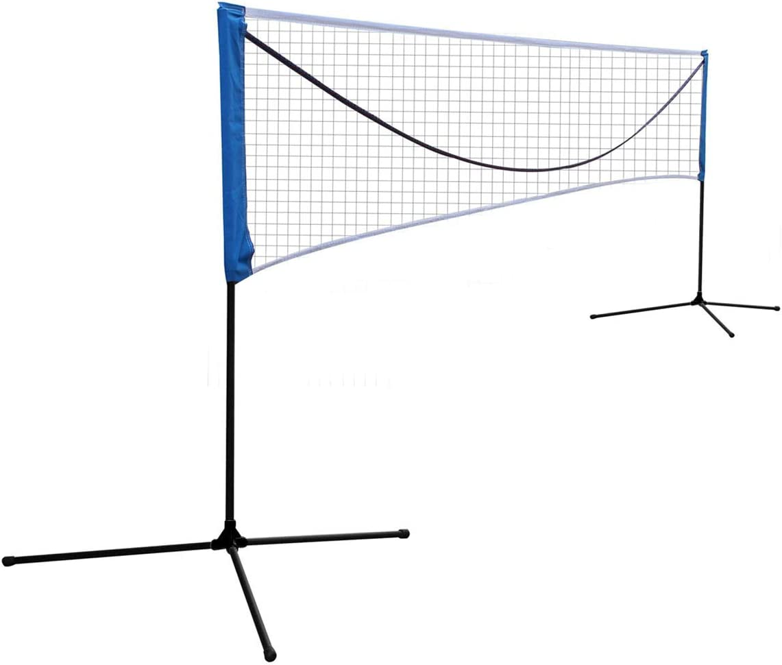 Sports God Portable Large Volleyball Badminton Tennis Net with Carrying Bag Stand//Frame