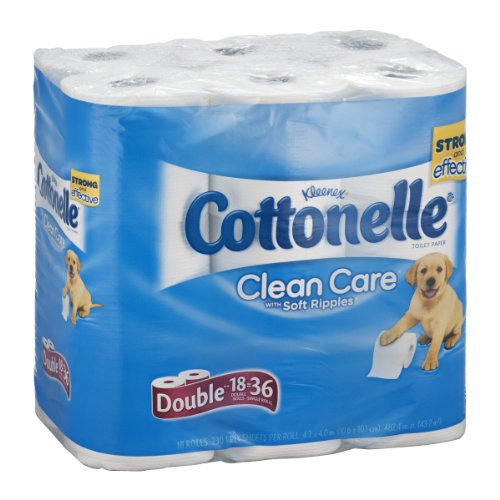 Cottonelle Clean Care Toilet Paper Double Roll-18 ct, 18 pack