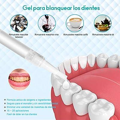 Blanqueamiento dental kit gel, iFanze Kit de Blanqueamiento de Dientes Teeth Whitening Kit Profesional reducir manchas dientes,2xgel 1x Luz LED, 2x Bandeja Dental: Amazon.es: Salud y cuidado personal