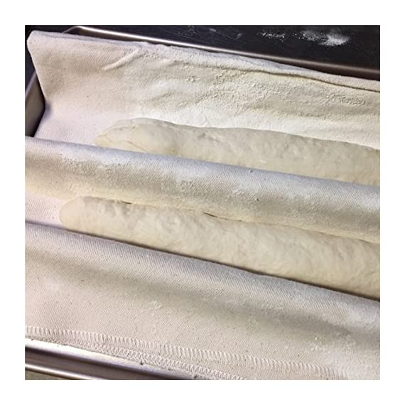 SODIAL Fermented Cloth Proofing Dough Bakers Pans Proving Bread Baguette Baking Mat Pastry Kitchen Tools 36x45CM 6 untreated, unbleached Scope of application: suitable for home and business use Matters needing attention: let the air dry, brush off excess flour. Do not wash, roll up and store
