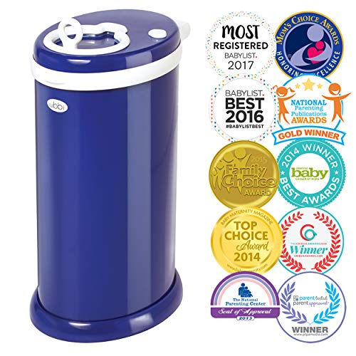 Ubbi Steel Odor Locking, No Special Bag Required Money Saving, Awards-Winning, Modern Design Registry Must-Have Diaper Pail, Navy (Best Health Savings Account 2019)