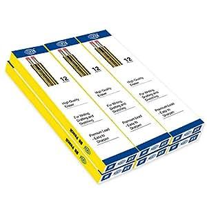 FIS HB Pencils with Eraser (6 Packs x 12 Pcs)
