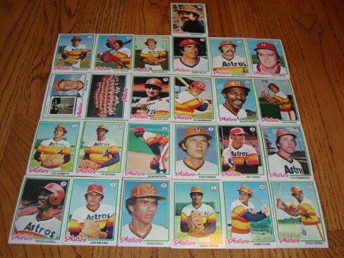 (Houston Astros 1978 Topps Baseball Team Set (25 Cards) (Cesar Cedeno) (J.R. Richards) (Juaquin Andujar) (Jose Crus) (Terry Puhl) (Art Howe) (Joe Sambito) (Joe Niekro) and More)
