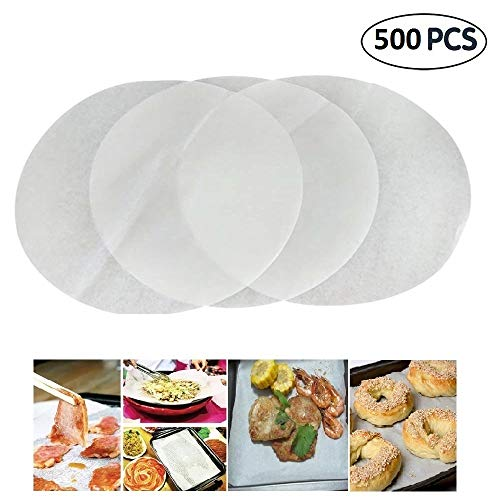 (Set of 500) Non-Stick Round Parchment Paper 12 Inch Diameter,Baking Paper Liners for Round Cake Pans Circle by Mity rain