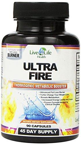 Métaboliques Booster-Ultra Fire Booster métabolique thermogène. Brûleurs de graisse pour hommes-graisse brûleur pour femmes-poids perte supplément diététique à l'aide de la thermogenèse. Formule à succès éprouvée. Augmente l'énergie, stimule le métabolism