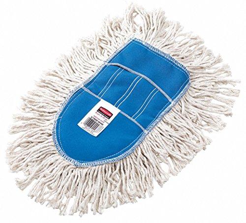 Rubbermaid FGU13000WH00 Kut-A-Way Wedge Mop Cut-End Dust Mop Head, White (Dust Mop Wedge)