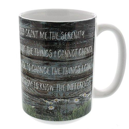 Serenity Prayer 15 oz Ceramic Mug White Interior Coffee Tea Microwave Safe by The Catholic Company