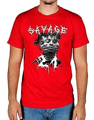 21 Savage 666 Head Graphic T-Shirt,Large,White