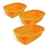Colorbasket Hand Woven Waterproof Rectangular Basket, Bright Orange