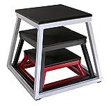Ader Plyometric Platform Box Set- 6'' Red, 12'' Black, 18'' White.