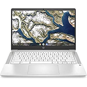 HP Chromebook 14-inch HD Touchscreen Laptop, Intel Celeron N4000, 4 GB RAM, 32 GB eMMC, Chrome (14a-na0040nr, Ceramic…