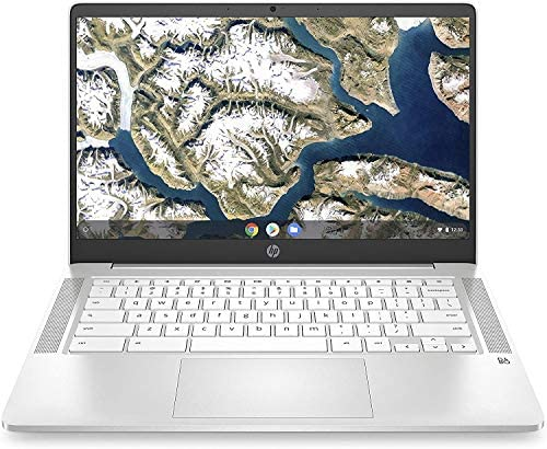 HP Chromebook 14-inch HD Touchscreen Laptop, Intel Celeron N4000, 4 GB RAM, 32 GB eMMC, Chrome (14a-na0040nr, Ceramic White)