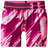 "Under Armour Girls' HeatGear Armour Printed Short – 5"", Beet/Beet, Youth X-Large"