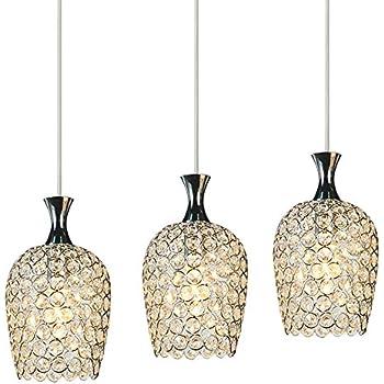 dinggu modern 3 lights crystal pendant lighting for. Black Bedroom Furniture Sets. Home Design Ideas