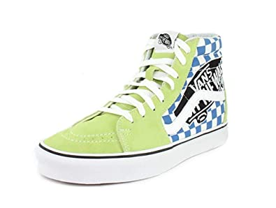 16718f48a9c Image Unavailable. Image not available for. Color  Vans SK8-HI Patch Sharp  Green True White ...