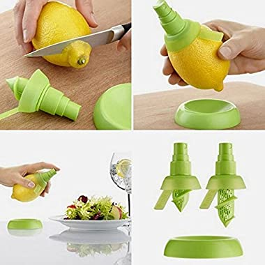 Vktech 2Pcs/Set Kitchen Lemon Juice Sprayer Citrus Spray Mini Squeezer Hand Juicer