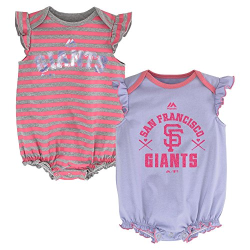 (San Francisco Giants Girls 2pc Creeper Bodysuit