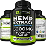 Hemp Oil Capsules for Pain Relief – 5000 MG Maximized Potency - Hemp Capsules Made in USA - Anti Inflammatory, Stress & Anxiety - All-Natural Mood & Immune Support - Skin Health, Deep Sleep - Omega 3
