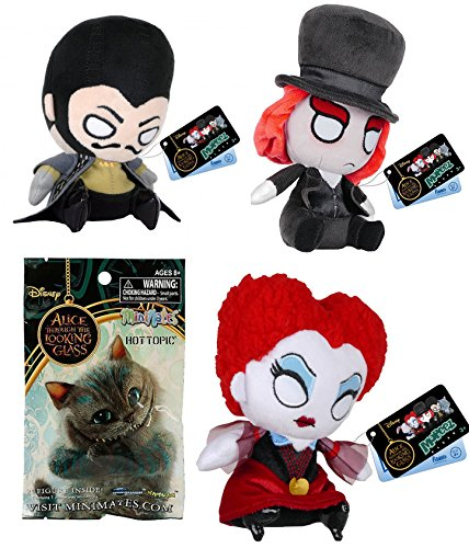 Classic Mad Hatter Set (Mad Hatter Alice Through the Looking Glass Collector Characters Funko Mopeez Mad Hatter Plush + Time + Iracebeth & Bonus Exclusive Minmates Blind Bag mini-Figure)