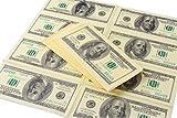 Amazlab Print Gag Prank Joke Napkins: Copy Retro $100 American Dollars Napkins,Banter Money Napkins for Party, 4 Pack (40 Napkins in Total)