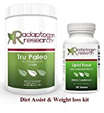 Adaptogen Research Diet Assist Weight loss kit Meal Replacement with Fat Absorber 15 Serving Vanilla