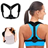 YoungRich Posture Corrector Posture Correction Belt Back Straps Adjustable Breathable Support for Relieve Back and Shoulder Pain for Men Women Kids and Teens Black
