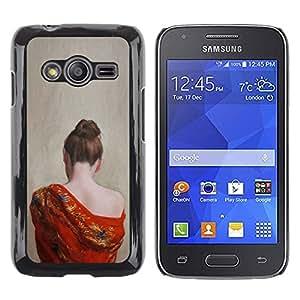 Be Good Phone Accessory // Dura Cáscara cubierta Protectora Caso Carcasa Funda de Protección para Samsung Galaxy Ace 4 G313 SM-G313F // Pale Skin Woman Naked Shoulder