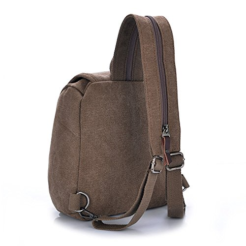 bag backpack Small Bestbag handbag canvas student Coffee shoulder xXZgwq1
