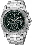 Seiko SNAA51 Stainless Steel Alarm Chronograph Black Dial Watch, Watch Central