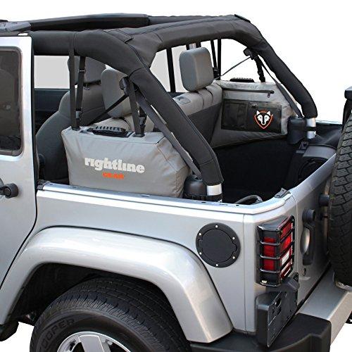 Rightline Gear 100J75 Jeep Wrangler Side Storage Bags, Gray - Set of (2) (2013 Jeep Wrangler 2 Door Hardtop For Sale)