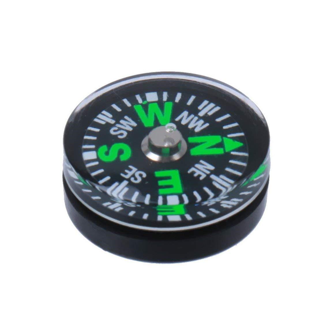 Br/újula Resistente al Agua de pl/ástico de 15 mm comp/ás para Uso al Aire Libre de Instrumentos del veh/ículo Mini comp/ás de navegaci/ón Bola Vida Solitaria