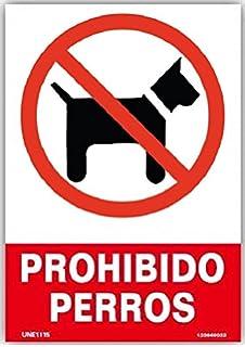 Señal de Prohibido Animales 14,8x21cm | Señaletica en ...