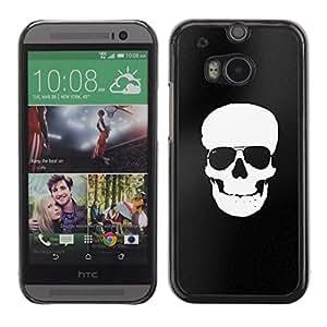 Be Good Phone Accessory // Dura Cáscara cubierta Protectora Caso Carcasa Funda de Protección para HTC One M8 // Black White Skull Minimalist Shades