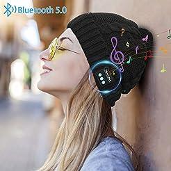 Miserwe Bluetooth Beanie Wireless 5.0 Bl...