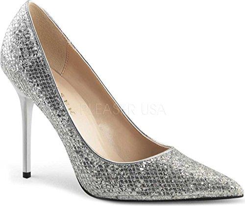 Du À Glittery Pieds Pleaser Femme Talons Chaussures Slv Couvert Fabric 20 avant Lame Classique xqpUwAgC