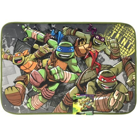 Teenage Mutant Ninja Turtles TMNT Foam Bath Rug / Bathroom Floor Mat, 20 X 30 Inches (51 X 76 Centimeters). Features Michelangelo (Orange), Leonardo (Blue), Donatello (Purple), and Raphael (Red).