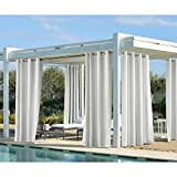 white outdoor curtains - Outdoor decor Coastal Outdoor 96 Panel, White