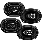 4) Soundstorm SSL EX369 6x9 3-Way 300 Watt Car Audio Stereo Coaxial Speakers