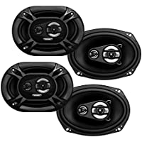 4) BOSS AUDIO PC65.2C 6.5 1000W Car 2 Way Component Speakers Audio Set PC652C