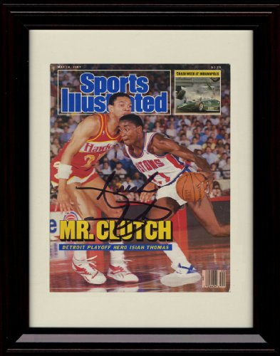 Framed Isiah Thomas Sports Illustrated Autograph Replica Print - 5/18/1987 - Detroit Pistons