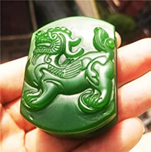 Ancient Chinese jade carving jade station horse, home