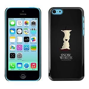 A-type Arte & diseño plástico duro Fundas Cover Cubre Hard Case Cover para iPhone 5C (Blancanieves)