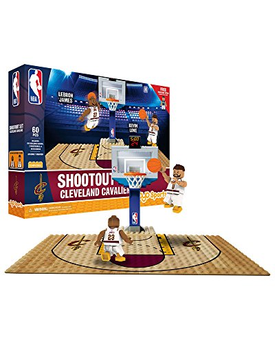 Official Nba Basketball Card (NBA Cleveland Cavaliers Display blocks Shootout Set, Small, No color)