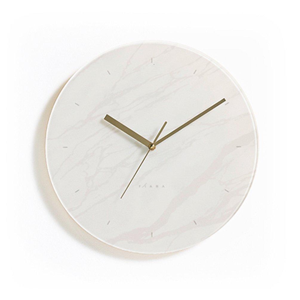おしゃれな ホワイト インテリアクロック シンプルでクールな デザイン 掛け時計 (20Cm) B0755H86RC 20Cm 20Cm