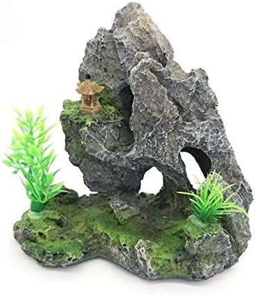 GCSEY El Tanque del Acuario Ornamento del Jardín De Rocalla De Mountain View Rock Cave Piedra Pez De Acuario Decoración del Árbol De Accesorios: Amazon.es: Productos para mascotas