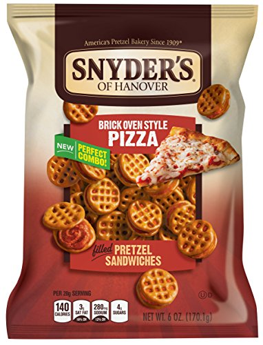 Snyder's of Hanover Pretzel Sandwiches, Brick Oven Style Pizza, 6 Ounce (Pack of 12)