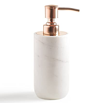 Lotion Dispenser, Kassatex Pietra Marble Bath Accessories | Calacatta Marble