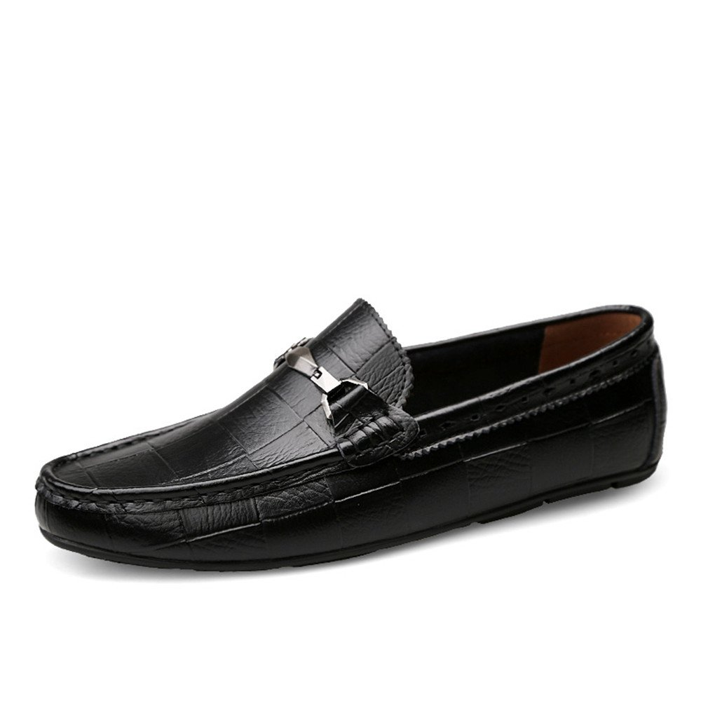 Men's Driving Moccasins Slip On Loafers Comfortable Casual Driving shoes for Men (color   Black, Size   9 UK)